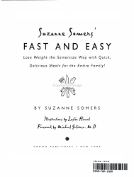 Suzanne Somers' Fast and Easy