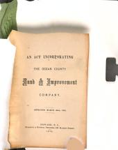 An Act Incorporating the Ocean County Land and Improvement Company: Approved March 20th, 1872