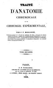 Traité d'anatomie chirurgicale et de chirurgie expérimentale: Volume2