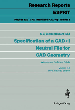 Specification of a CAD   I Neutral File for CAD Geometry