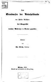 Das Grundwesen der Naturheilkunde den schiefen Ansichten des Kongresses deutscher Wasserärzte in Dresden gegenüber