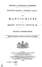 Report of the Royal Commission on Historical Manuscripts: Volume 11, Part 1