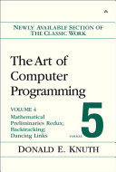 The Art of Computer Programming  Volume 4  Fascicle 5