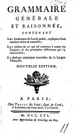 Grammaire g  n  rale et raisonn  e  1660  An enlarged photographic reprint of the edition of 1660 and of several pages of the edition of 1664 PDF