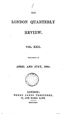 the london quarterly review vil xxii PDF