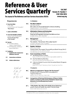 Reference   User Services Quarterly PDF