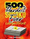 500+ Hardest Sudoku Ever Large Print