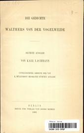 Die Gedichte Walthers von der Vogelweide