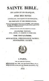 Sainte Bible en latin et en français: ouvrage enrichi de cartes géographiques et de figures, Volume24