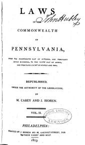 Laws of the Commonwealth of Pennsylvania: Volume 2
