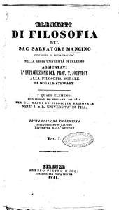 Elementi di filosofia del sac. Salvatore Mancino: 1