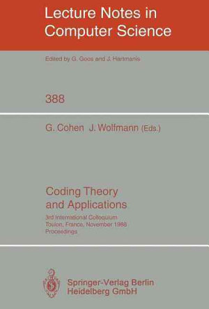 Coding Theory and Applications PDF