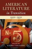 American Literature In Transition 1920 1930