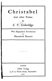 Christabel, & Other Poems