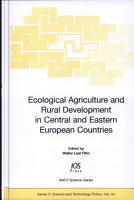 Ecological Agriculture and Rural Development in Central and Eastern European Countries PDF
