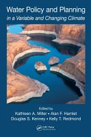 Water Policy and Planning in a Variable and Changing Climate PDF