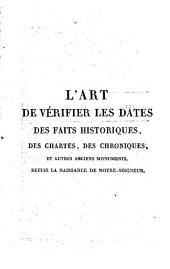L'Art de vérifier les dates: Volume13