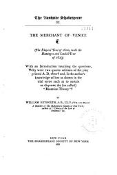 The Merchant of Venice: (The Players' Text of 1600, with the Heminges and Condell Text of 1623)