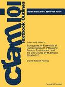 Studyguide for Essentials of Human Behavior