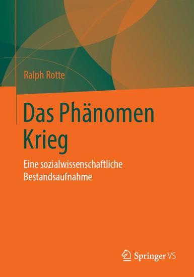 Das Ph  nomen Krieg PDF