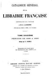 Catalogue général de la librairie française: Volume12