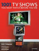 1001 TV Shows You Must Watch Before You Die PDF
