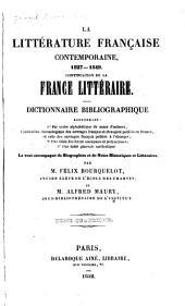 La littérature française contemporaine. XIXe siècle: Le tout accompagné de notes biographiques et littéraires, Volume4