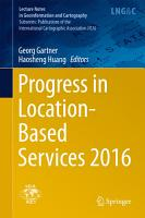 Progress in Location Based Services 2016 PDF