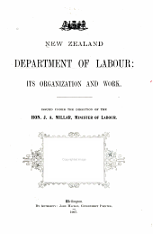 New Zealand Department of Labour: Its Organization and Work