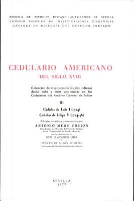 Cedulario americano del siglo XVIII PDF
