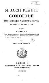M. Accii Plauti Comoediae: Volume 1