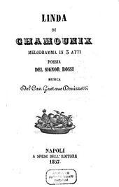 Linda di Chamounix: melodramma in 3 atti