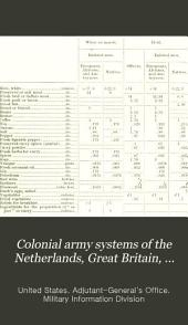Colonial Army Systems of the Netherlands, Great Britain, France, Germany, Portugal, Italy, and Belgium: Issue 34