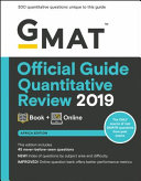 GMAT Official Guide 2019 Quantitative Review  Book   Online  African Version  Book