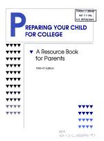 Preparing Your Child for College