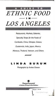 A Guide to Ethnic Food in Los Angeles Book