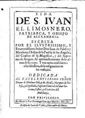 Vida de S. Juan el Limosnero patriarca y obispo de Alexandria