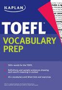 Kaplan TOEFL Vocabulary Prep PDF