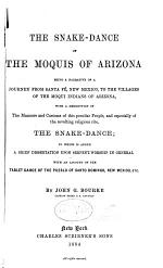 The Snake-dance of the Moquis of Arizona