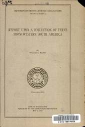 Report upon a collection of ferns from western South America