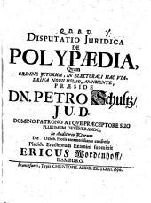 Diss. iur. de polypaedia