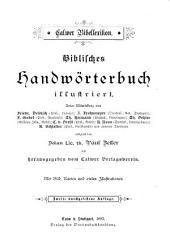 Biblisches Handwörtenbuch illustriert