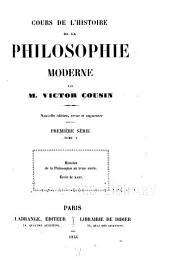 Cours de l'histoire de la philosophie moderne: École de Kant