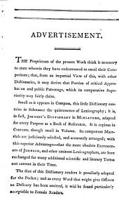 Johnson's Dictionary of the English Language in Miniature