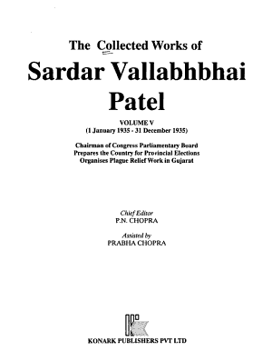 The Collected Works of Sardar Vallabhbhai Patel  1 January 1935 31 December 1935 PDF