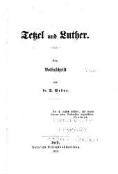 Tetzel und Luther: eine volksschrift