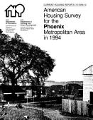 Current Housing Reports American Housing Survey For The Phoenix Metropolitan Area 1994