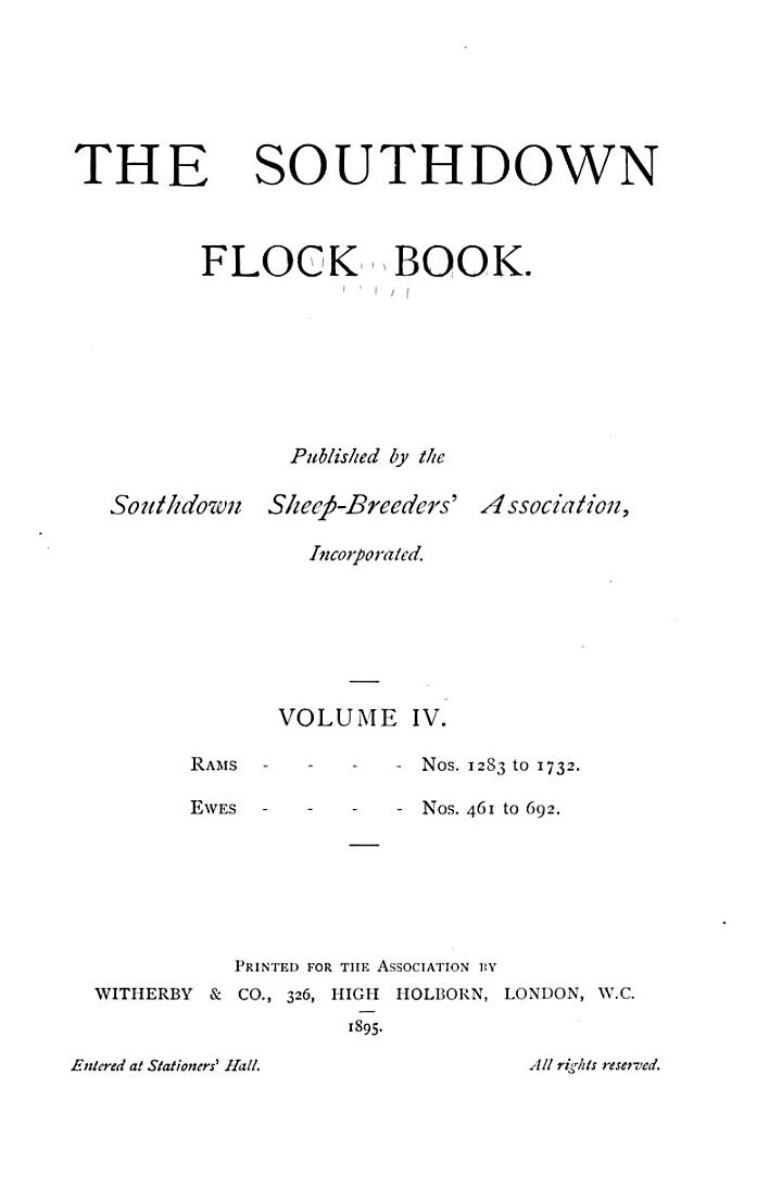 The Southdown Flock Book