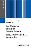 Zur Theorie sozialer Innovationen PDF