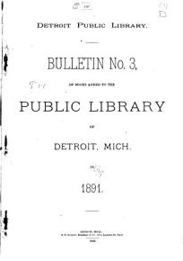 Bulletin     of Books Added to the Public Library of Detroit  Mich PDF